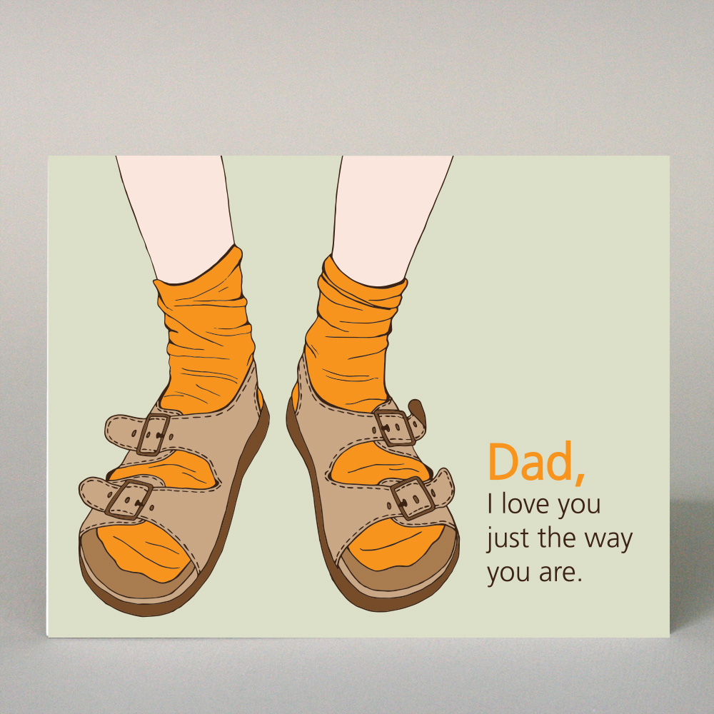 GF-156 Dad - Just The Way You Are, Sandals
